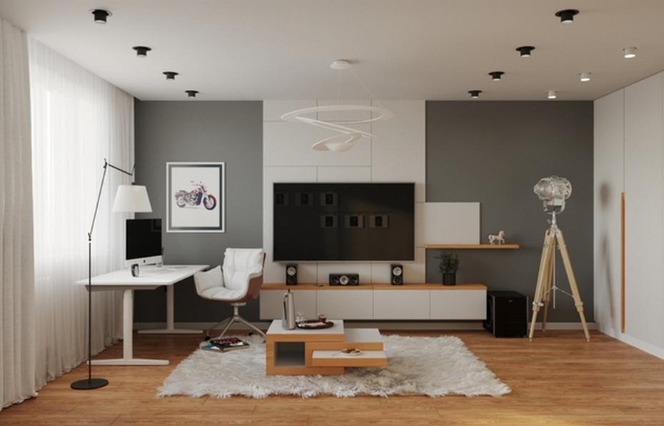 Функциональные зоны гостиной