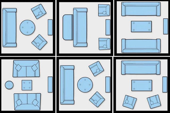 Классические схемы меблировки