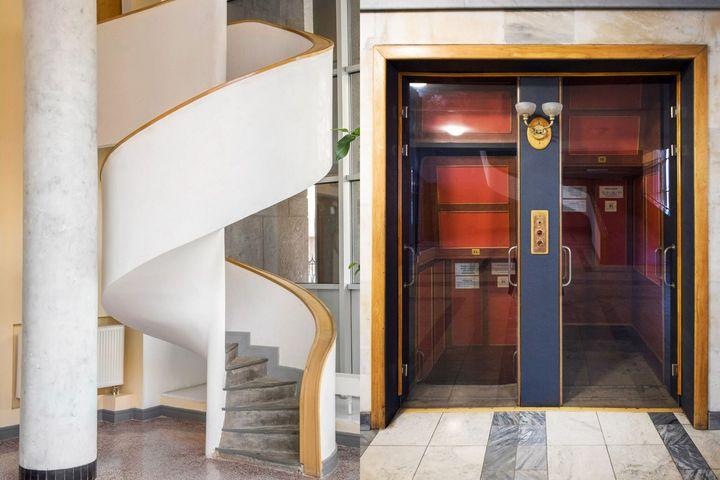 Лестницы и лифт