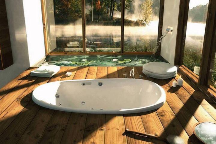 Ванна, утопленная в пол