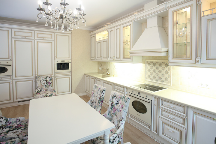 Кухня и столовая в английском стиле