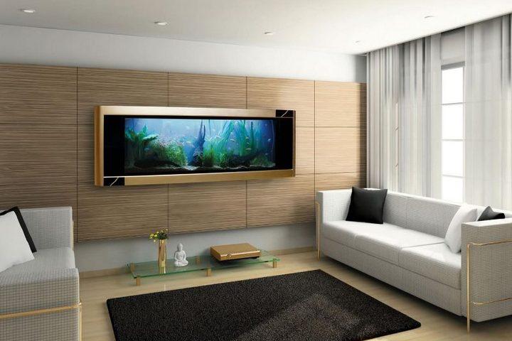 """""""Живая картина"""" - аквариум на стене"""