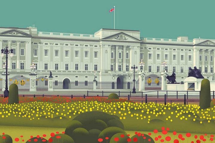 Постер с Букингемским дворцом