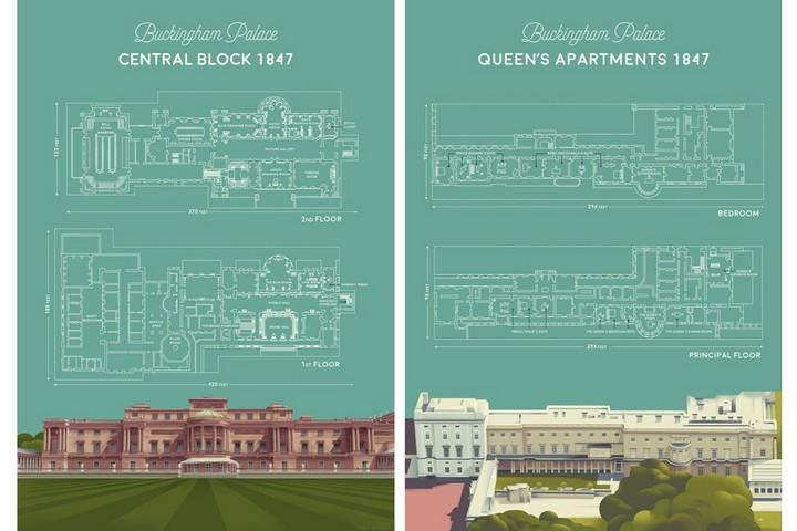Планы этажей и покоев королевы