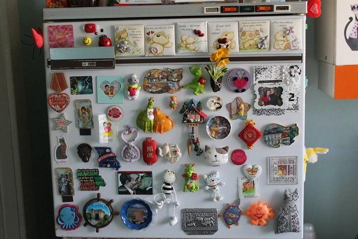 Избыточное количество магнитов на холодильнике
