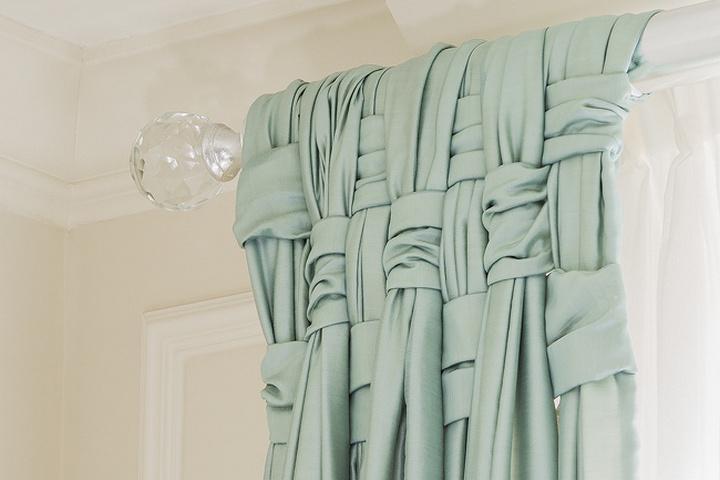 Плетение на шторе