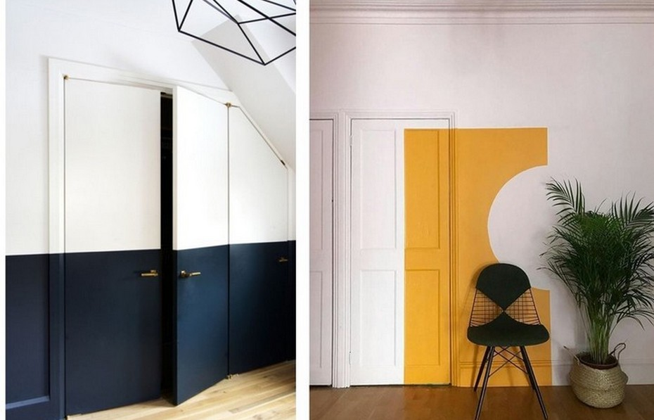 Колор-блок с декором дверей