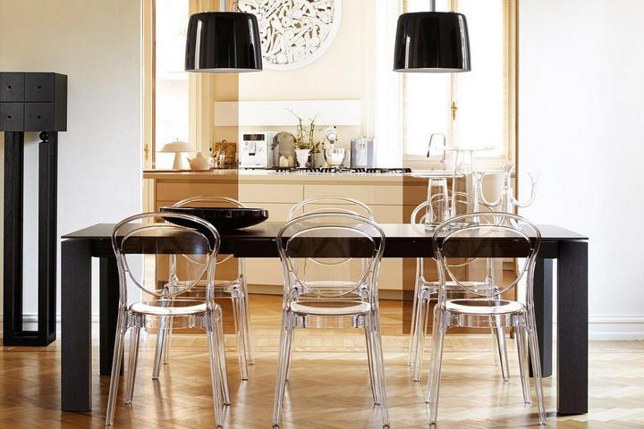 Прозрачные обеденные стулья