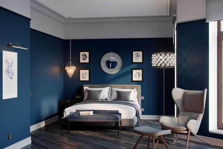 Скандинавский стиль в синем цвете