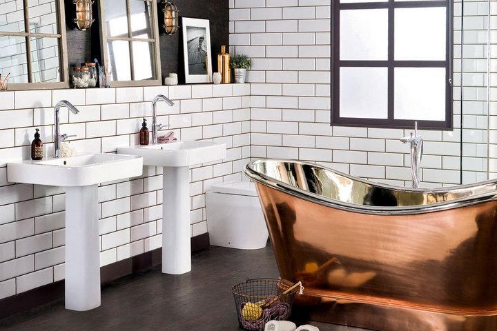 Ретро ванная в скандинавском стиле