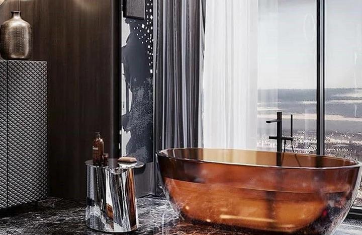 Полупрозрачная ванна