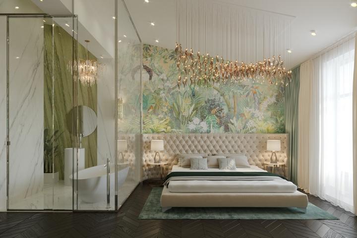 Спальня с тропическим душем