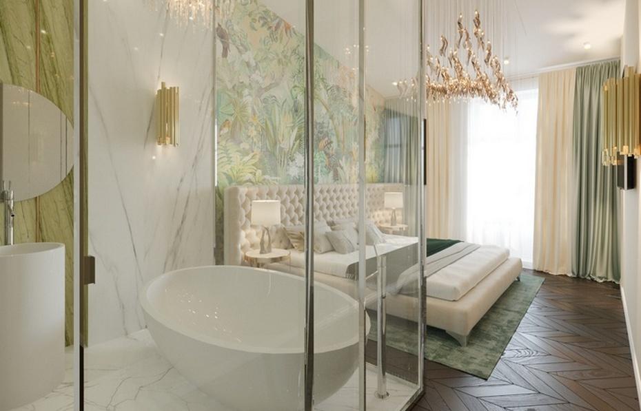 Тропический душ в спальне
