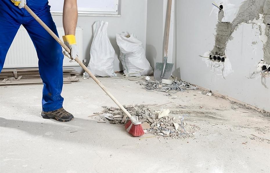 Уборка во время ремонта