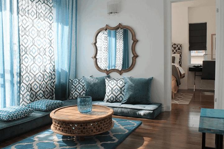 Синие тона марокканского стиля