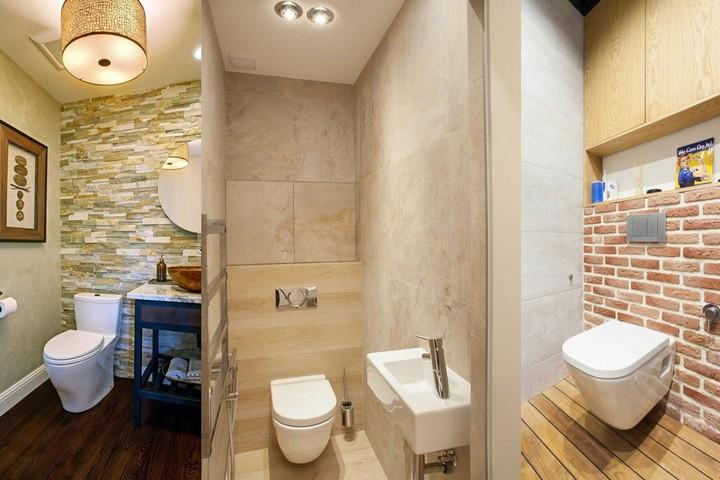 Туалеты с отделкой под камень