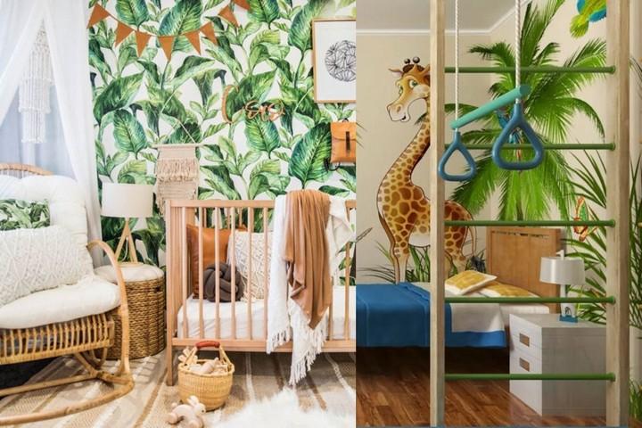 Тропические обои в детских комнатах