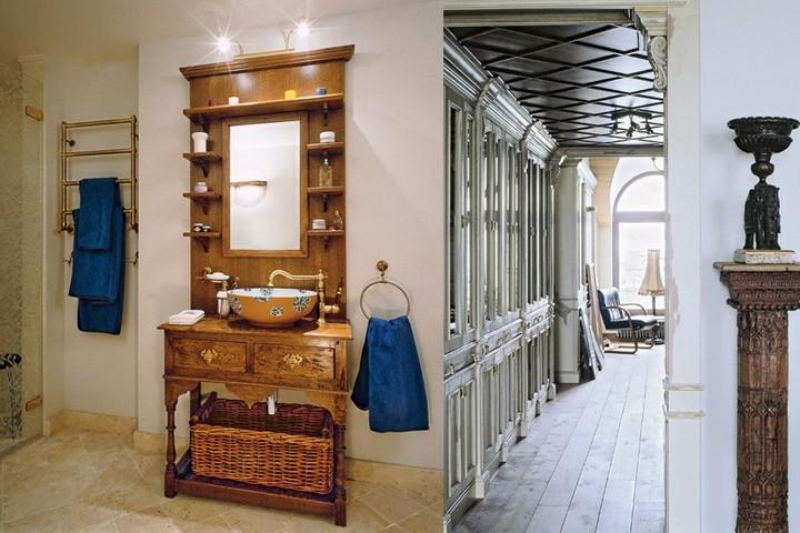 Винтажная мебель в ванной и холл