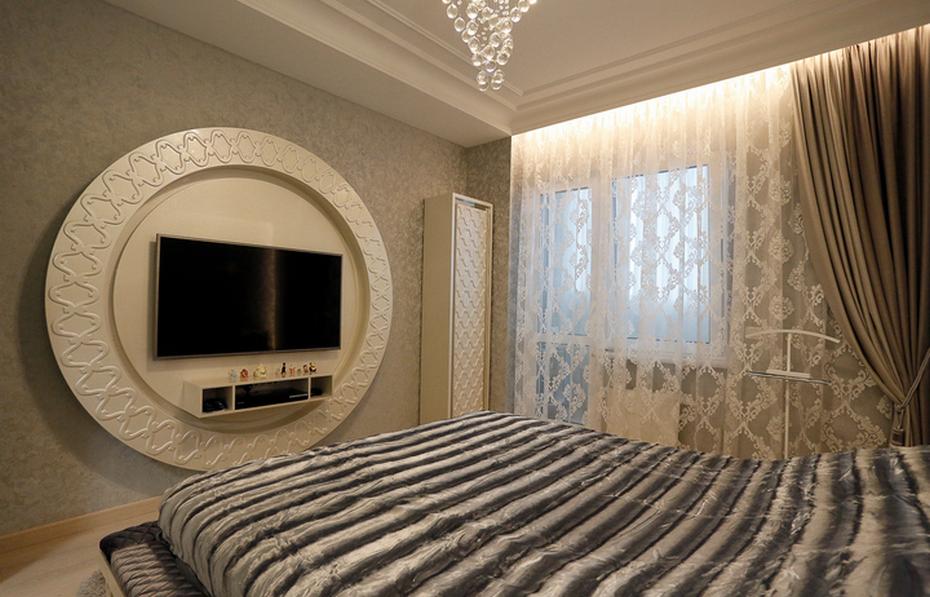 3D-панель в спальне