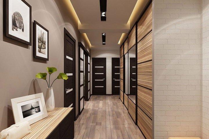Декор поверхностей в коридоре