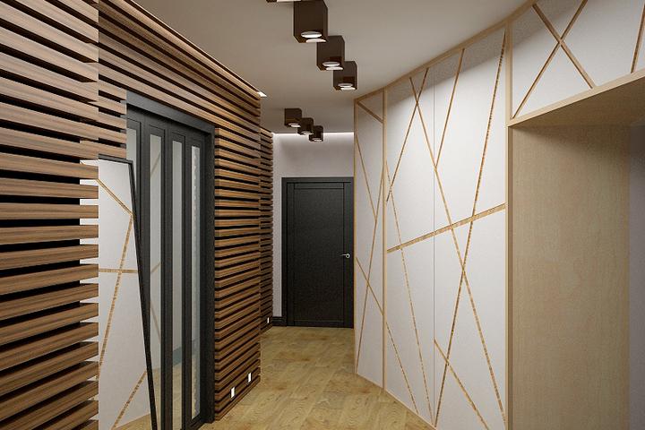 Геометрия в декоре коридора