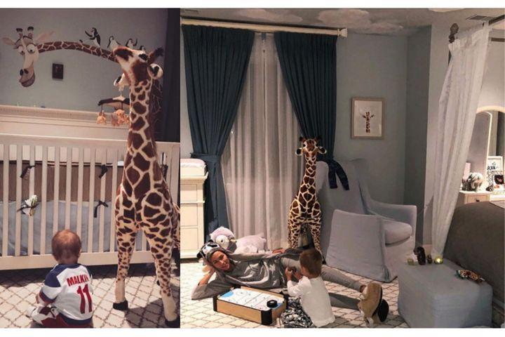 Спальня с детской зоной