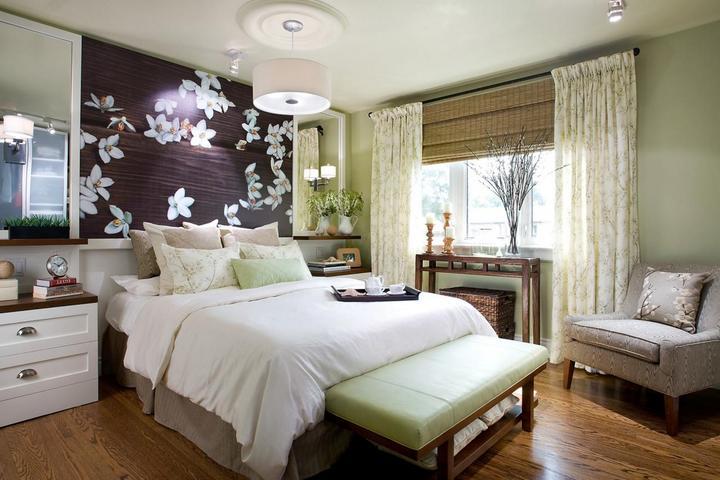 Японские мотивы в спальне