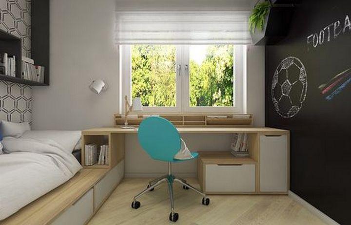 Один предмет мебели с зоной для сна и работы