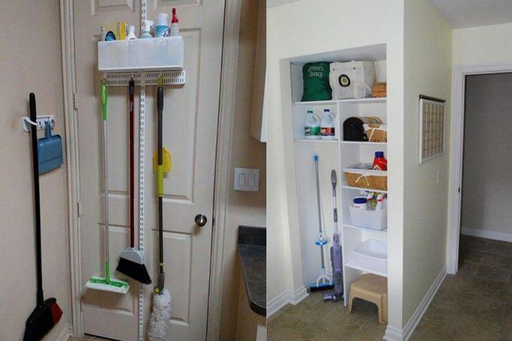 Организация хранения на двери и в нише
