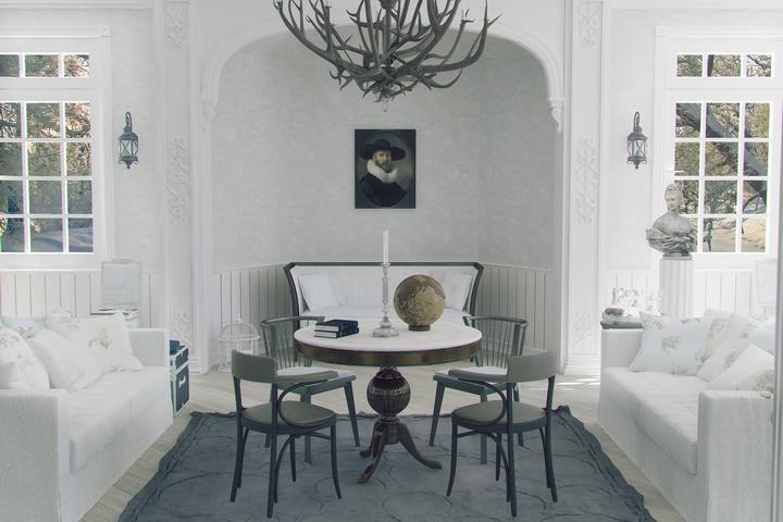 Интерьер в густавианском стиле