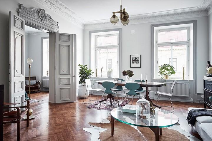 Современная квартира в густавианском стиле