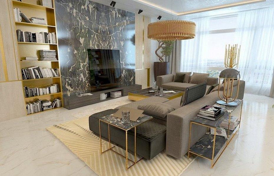 Мрамор в мебели и отделке