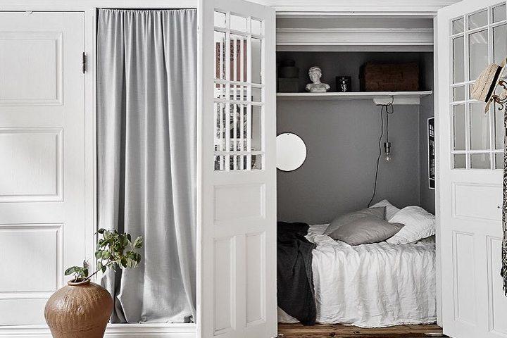 Спальня в кладовой