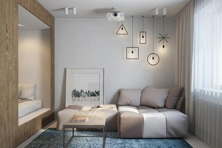 Небольшая квартира с изолированной спальней