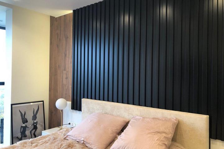 Спальня с панелью из МДФ