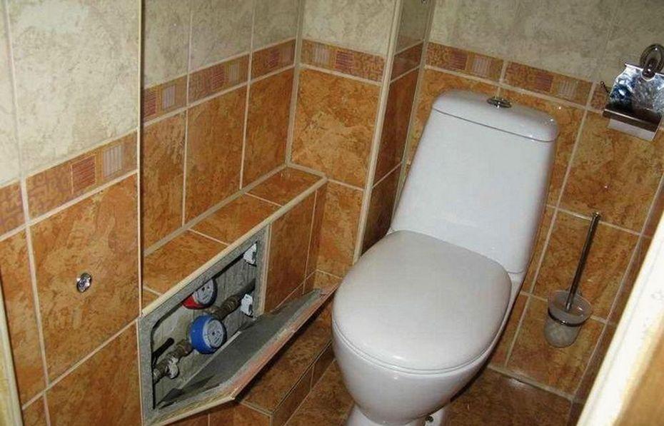 Туалет с коробами