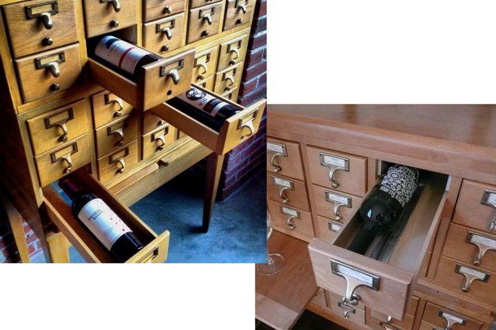 Хранение вина в почтовом комоде
