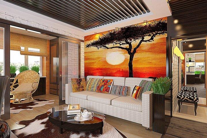 Африканские мотивы в гостиной