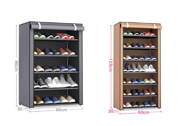 Шкаф для обуви со шторкой