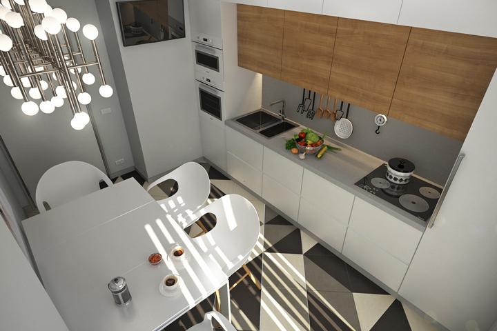 Вместительная кухня и зона столовой