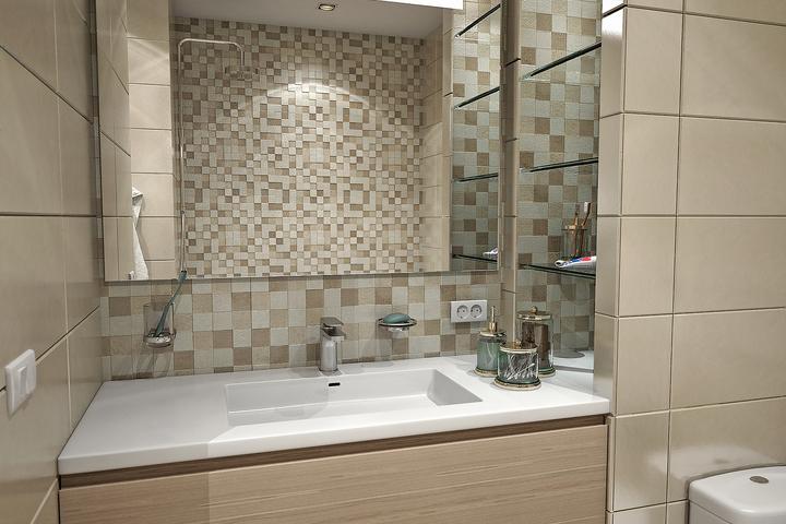 Классическое зеркало в ванной