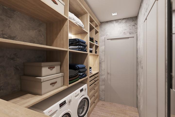 Постирочная в гардеробной