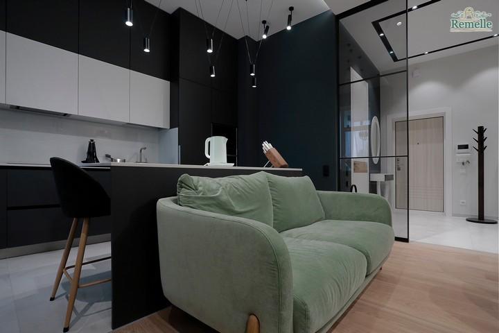 Контрастные цвета мебели и кухонного гарнитура