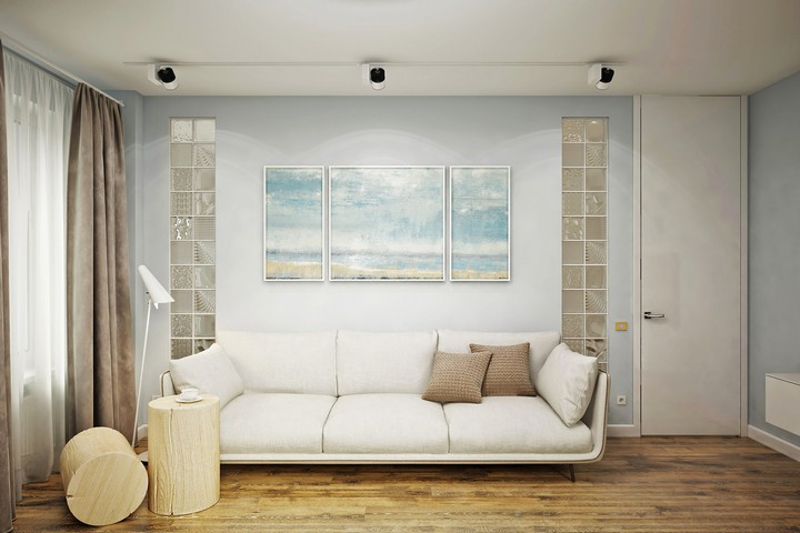 Базовый интерьер гостиной