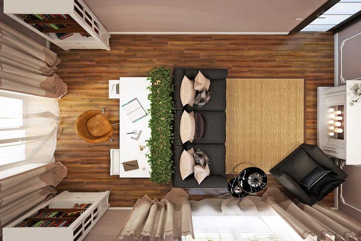Схема меблировки гостиной