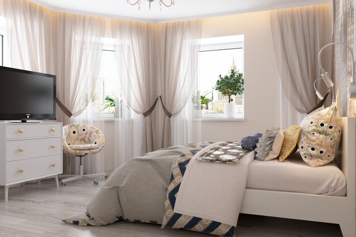 Спальня с необходимой мебелью