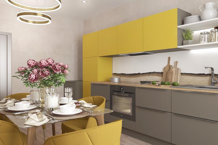 Кухонный гарнитур в цвет стульям