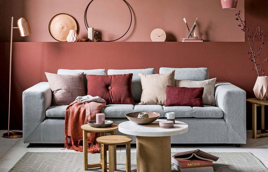Стильный осенний интерьер гостиной