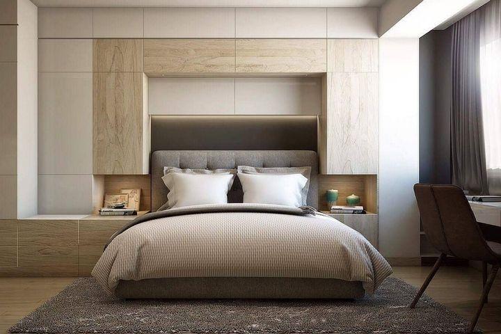 Кровать с цельной системой хранения