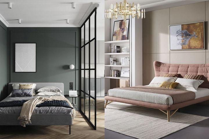 Кровати на ножках в небольших помещениях
